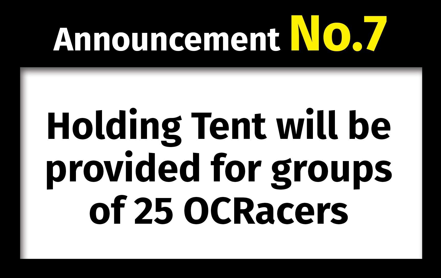 1st Asian OCR Championships. Announcement No.7